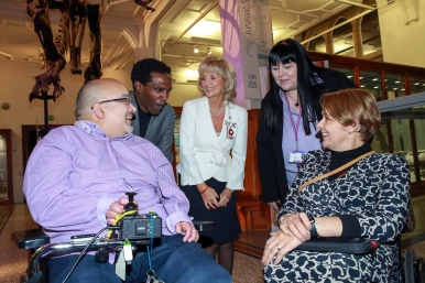 Hamied, Lemn, Edith, Melanie and Tanni having a laugh